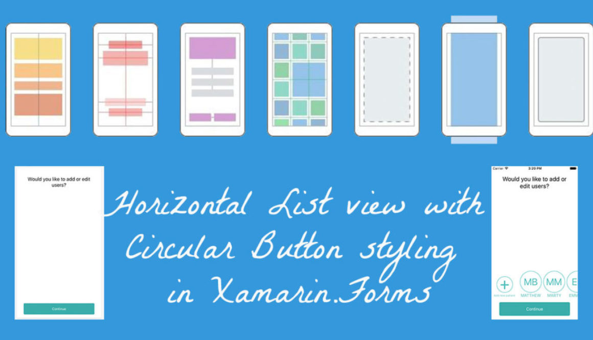 Horizontal List View with Circular Button styling in Xamarin Forms